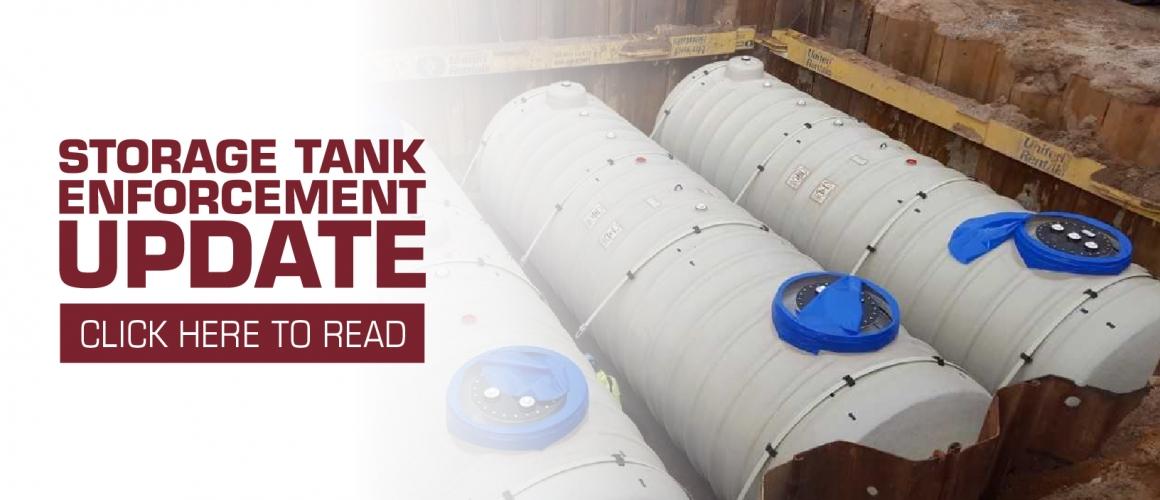 Storage Tank Enforcement Update